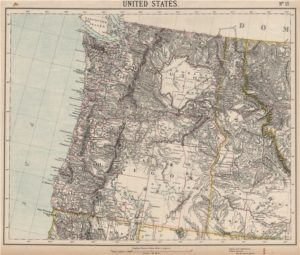 Map of Idaho, Washington and Oregon 1889