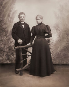 George and Jørgine (ca. 1898) - (photo courtesy Rod Frederiksen)