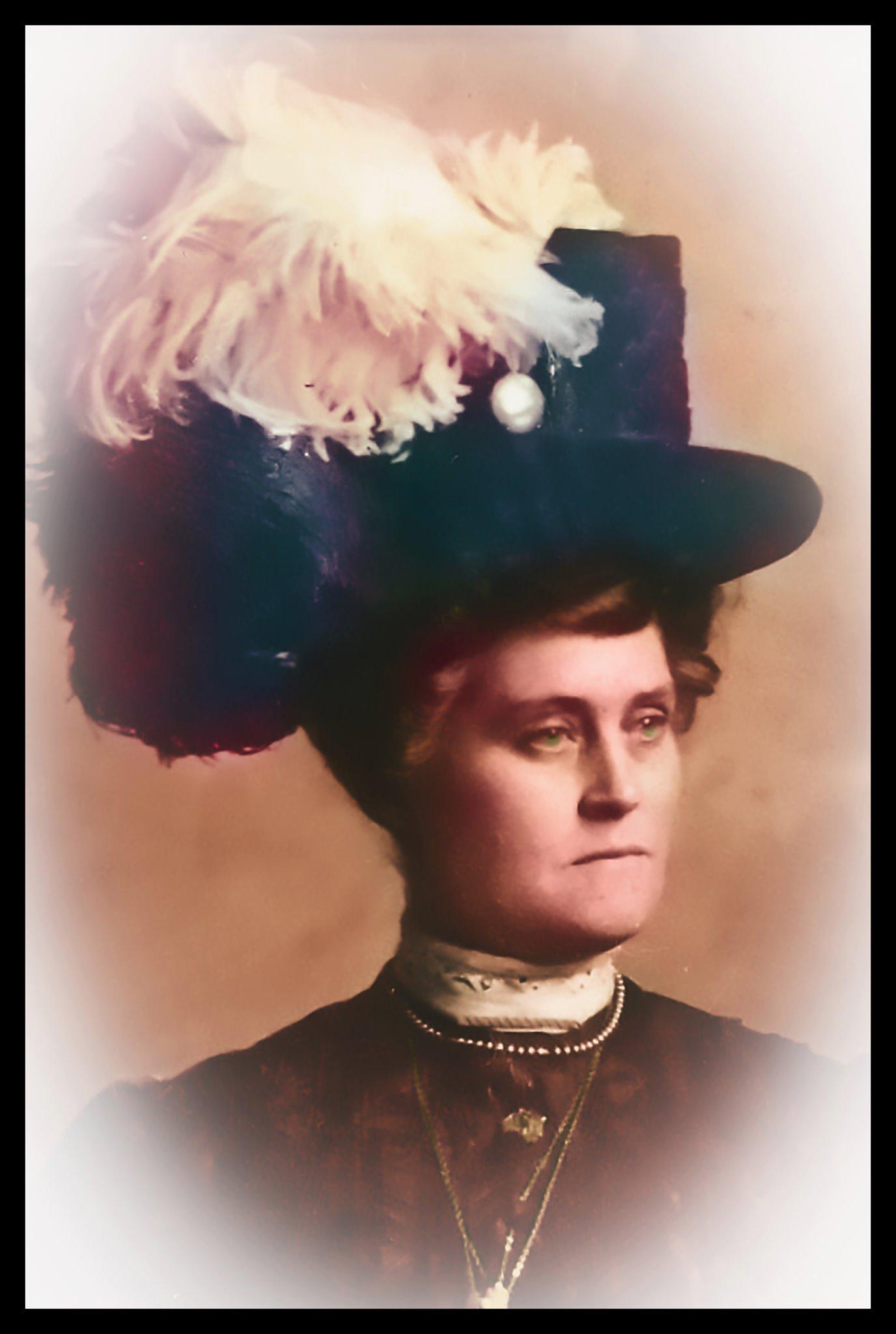Sarah Dunning Pedigo, daughter of James Arthur and Helen Adelia (Gates) Dunning. Photo restored by Alex Hadley
